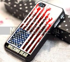 The Walking Dead Flag - iPhone 4/4s/5/5s/5c - iPod 4/5 - Samsung Galaxy s3 i9300/s4i9500 Case  by MESSIEY on Etsy