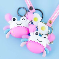 Smiling Crab with Egg Keychain Cute Surprises, Highlighter Pen, Washi Tape Set, Kawaii Gifts, Cute Charms, Kawaii Shop, Welcome Gifts, Sanrio Hello Kitty, Cute Pattern