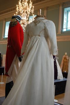 Wedding outfits worn by Alan Rickman and Kate Winslet as Colonel Brandon and Marianne Dashwood in Sense and Sensibility (1995).