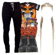 """""""Glo Gang"""" by christianna-futrell ❤ liked on Polyvore featuring DRKSHDW and NIKE"""