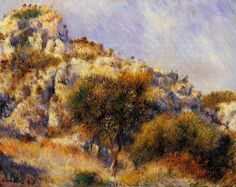 Rocks at l'Estaque by Pierre-Auguste Renoir 1882