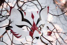 Mask: Kabuki Kitsune by taeliac.deviantart.com on @deviantART