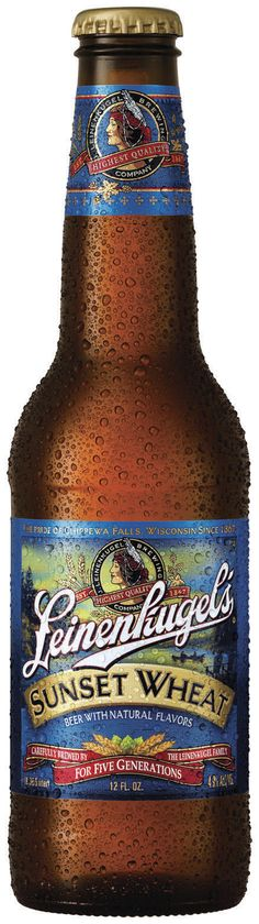 Leinenkugel's Sunset Wheat  Beer 12 Oz Glass Bottle