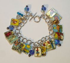 TAROT-CARDS-BRACELET-FORTUNE-TELLER-CHARMS-FREE-TO-SWITCH-OUT-CARD-CHARMS