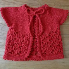 Baby Cherry Blossom Sweater - free knitting Pattern