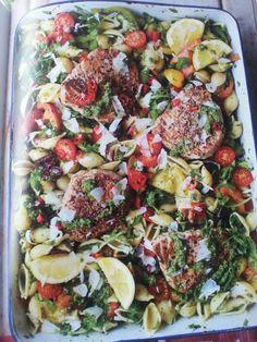 Siciliaanse pastasalade met tonijn en tomaat van Jamie olliver