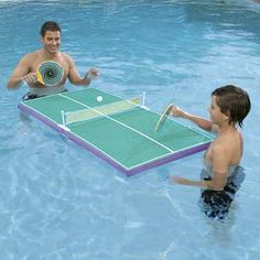 floating ping-pong table for use in a pool or any body of water