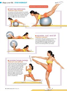 Just did this workout and it was great! For the Butt Physical exercise Out of Bed Workout: Repeat this cycle right when you wake up in th. Sport Fitness, Health Fitness, Health Exercise, Physical Exercise, Hip Strengthening Exercises, Workout Exercises, Ball Workouts, Dumbbell Workout, Workout Ball