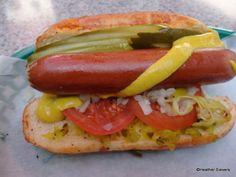 Wizard of Oz Yellow Brick Roll hot dog in Disneyland!