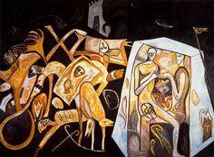 Paladino, Mimmo (1948- ) - 1982 Ronda Notturna (Stadtische Galerie in Lembachhaus, Munich, Germany)   Flickr - Photo Sharing!