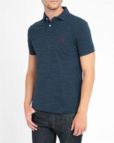 POLO Ralph Lauren, Marled Blue Slim-Fit Polo Shirt
