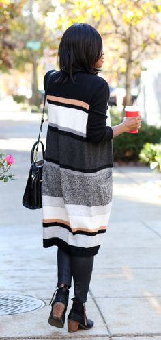 how to wear an oversized cardigan -- the perfect weekend ensemble!