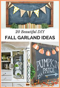 All Kinds Of DIY Fall Garlands -  From mini pumpkin garlands, washi tape garlands, leaf garlands, crochet garlands and more, these garlands will add a festive flair to your home!