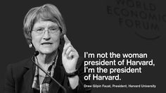 Drew Gilpin Faust, President, Harvard University at the World Economic Forum Annual Meeting 2013 in Davos