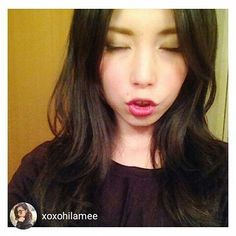 repost via @instarepost20 from @xoxohilamee (-。-) perfect selfie...