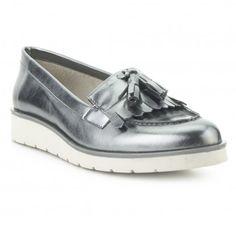 Mocasín metalizado piel DI-FONTANA Outlet, Loafers, Shoes, Fashion, Amor, Valentines, Winter, Women, Travel Shoes