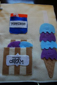 Ice Cream page...I remember these books when I was a kid!  Love these, must create these for the kids