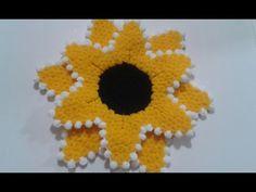 üç boyutlu ayçiçeği lif yapımı - YouTube