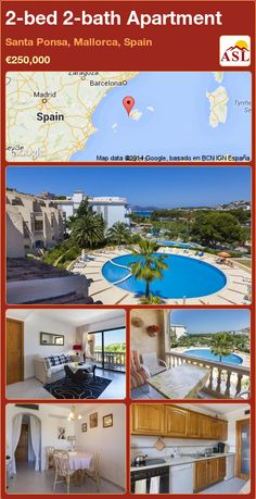 2-bed 2-bath Apartment in Santa Ponsa, Mallorca, Spain ►€250,000 #PropertyForSaleInSpain