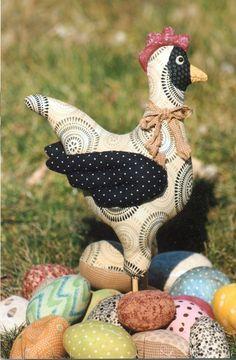 Chicken hen eggs patterns