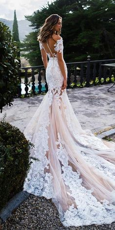 off the shoulder wedding dresses mermaid lace backless blush with illusion sleev., off the shoulder wedding dresses mermaid lace backless blush with illusion sleeves noranaviano sposa Different Wedding Dress Styles, Best Wedding Dresses, Wedding Gowns, Backless Wedding Dresses, Boho Wedding, Wedding Blush, Illusion Wedding Dresses, Wedding Dress Train, Wedding Ceremony
