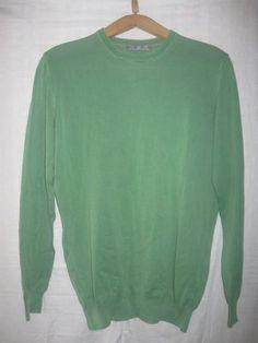 Свитер мужской лёгкий зелёный. Размер 50. Дёшево. Тоненький свитер х/б. Ширина в подмышках - 52 см