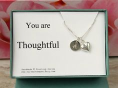 You are Thoughtful thank you gift box sterling by SilverStamped