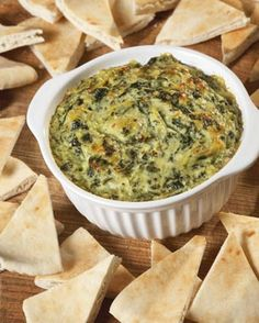 Ingredients:  16 ounces sour cream  3 ounces parmesan cheese  14 ounces non-marinated artichoke heart (drain, rinse, chop)  8-10 ounces chopped spinach (can use frozen – thaw and drain well)  10-16oz ounces monterey jack cheese, shredded  Salt to taste