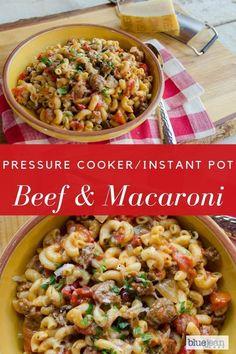Beef Macaroni, Pork Pasta, Macaroni Recipes, Pasta Recipes, Beef Recipes, Cooking Recipes, Potluck Recipes, Casserole Recipes, Dinner Recipes