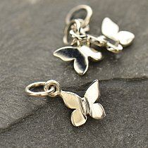 We have a lot of new sterling silver charms in our Iowa City store! These tiny butterflies are a sweet example! They can be put on a chain as a pendant or on a bracelet. Come in and check out our expansive collection!  #Handmade #Jewelry #IowaCity #ShopLocal #Butterflies