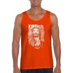 Los Angeles Pop Art Men's Tank Top - Jesus, Orange