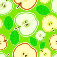 "Free vector ""Apple"" pattern - www.depositphotos.com"