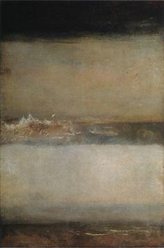 JMW Turner – Three Seascapes (c.1827). Oil on canvas 90.8cm x 60.3cm