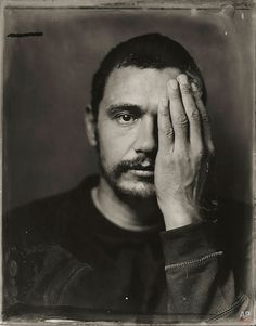 Photographer Victoria Will used a century-old technique to capture tintype portraits of celebrities at the Sundance Film Festival. Pictured: James Franco