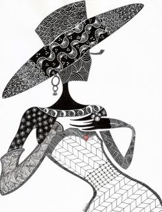 A Day at Tiffanys: Kathleen's Art Creations, Whimsical Zentangle