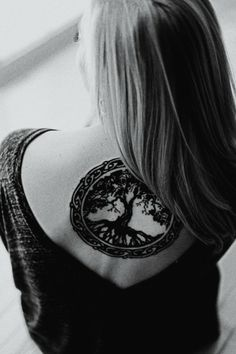 Beautiful tree tattoo. This could be a great post-mastectomy tattoo.