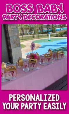 Baby Girl Birthday, Birthday Ideas, Boss Birthday, 19th Birthday, Girls Party Decorations, Baby Girl Cakes, Boss Baby, Baby Shower, Baby Party Favors
