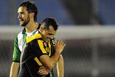 """Matías Aguirregaray, el """"Vasquito"""", en la alegría final del tercer gol, en gran contragolpe, para llegar a la punta del Torneo Apertura."""