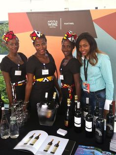 Beautiful ladies promoting #Fantinel #wines in #Africa !  #Prosecco #WineLover