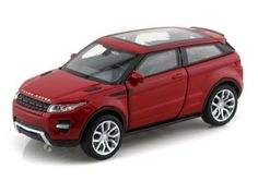 NEW 1:32 DISPLAY WELLY COLLECTION - RED LAND ROVER RANGE ROVER EVOQUE Diecast Model Car By Welly