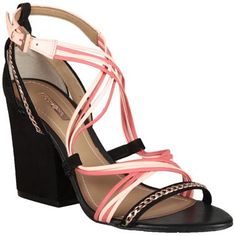 Sandália #Dumond com Tiras Preto e Rosa #Shoes #Fashion