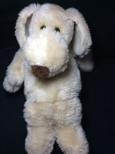 "Le Mutt Tan Plush Dog 1980 Francesca Hoerlein Franland Soft Toy Stuffed 14"" #Franland"