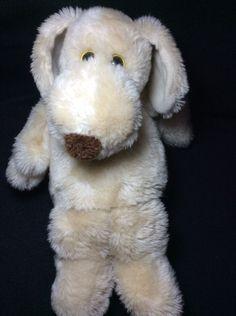 """Le Mutt Tan Plush Dog 1980 Francesca Hoerlein Franland Soft Toy Stuffed 14"""" #Franland"""
