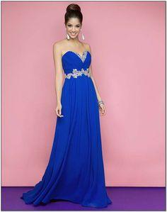 Royal Blue Bridesmaid Dresses In The Uk Empire Beautiful Prom Beading