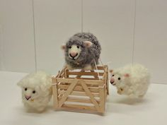 Sheep Mobile - Felted Sheep Mobile - Nursery Mobile - Baby Crib Mobile - Nursery Decor by VintageSplendorGifts on Etsy https://www.etsy.com/listing/484638712/sheep-mobile-felted-sheep-mobile-nursery