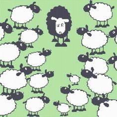 Black Lamb Easy Cross Stitch Pattern  Email Delivery   X001   fashionwitch - Patterns on ArtFire