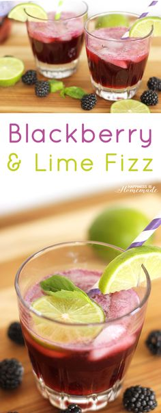 Blackberry and Lime Fizz Cocktail Recipe #KeepSpringBubbly #ad