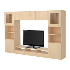 BESTÅ TV storage combination/glass doors IKEA
