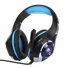 [2016d] Beexcellent Gaming Headset with Microphone LED Light for PS4 PC Xbox One Laptop Tablet Mobile Phones (Black-Blue)  http://gamegearbuzz.com/2016d-beexcellent-gaming-headset-with-microphone-led-light-for-ps4-pc-xbox-one-laptop-tablet-mobile-phones-black-blue/