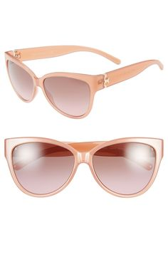 Loving these pink Tory Burch cat eye sunglasses!